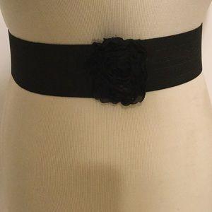 Accessories - Black Elastic Belt