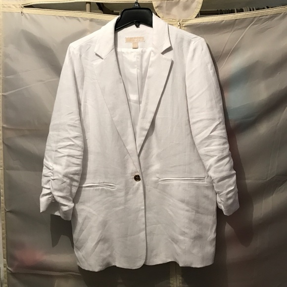 76% off KORS Michael Kors Jackets & Blazers - Michael Kors white ...