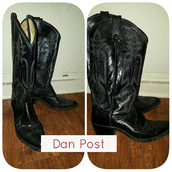 Vintage Dan Post Shoes - Vtg Dan Post learher cowboy boots 7.5