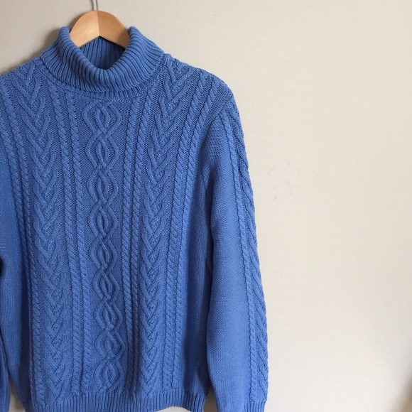 56% off Parkhurst Weekend Sweaters - Cozy Periwinkle Blue Cable ...