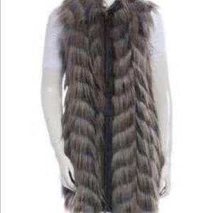 Rachel Zoe faux ostrich vest