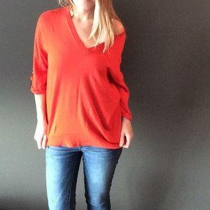 MICHAEL Michael Kors Sweaters - Michael Michael Kors reddish orange sweater top