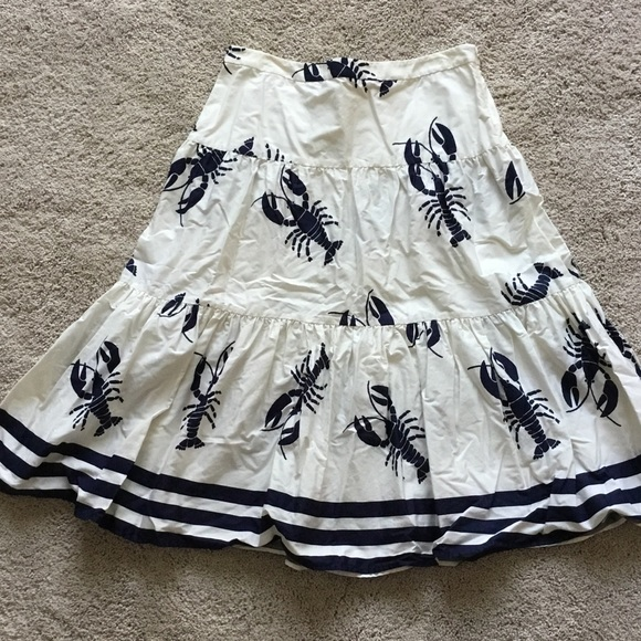 J. Crew Dresses & Skirts - J.Crew lobster print skirt