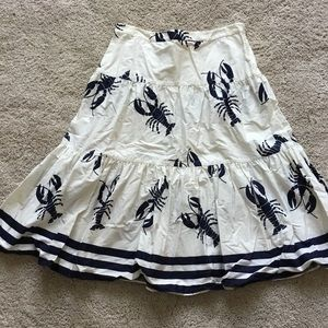 J.Crew lobster print skirt