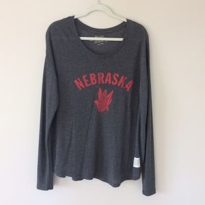 Original Retro Brand Tops - Nebraska Huskers Long Sleeve Tee