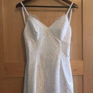 Sleeveless Backless Sheath Wedding Dress