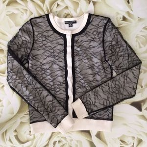 Behnaz Sarafpour Sweaters - Behnaz Sarafpour (for Target) • Lace Cardi •