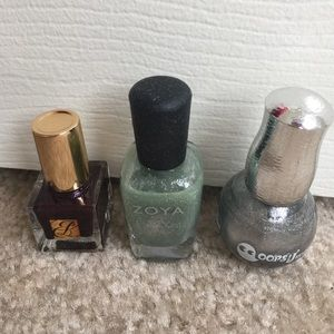 Metallic nail polish set
