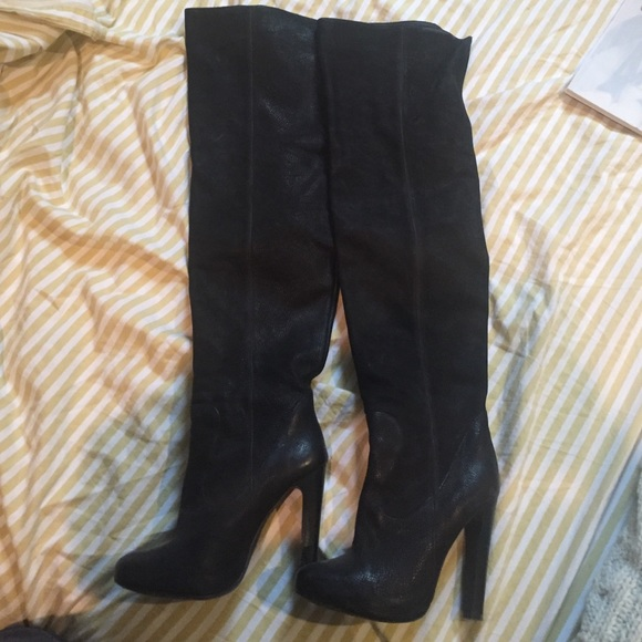75% off All Saints Shoes - All Saints over the knee boots from