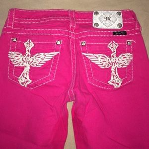 Hot pink miss me Capri size 27