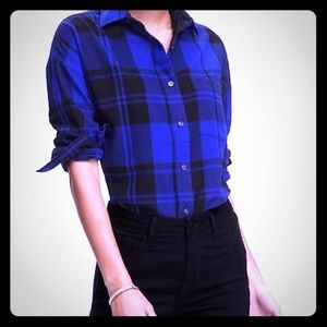 64 off old navy tops white and black plaid flannel for Navy blue and red flannel shirt