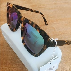 Karen Walker Accessories - Karen Walker Deep Freeze Crazy Tort Sunglasses