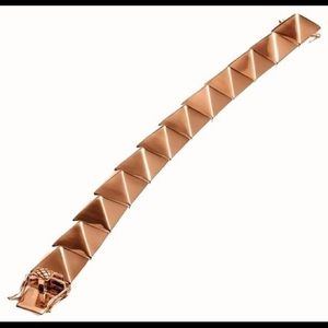 Eddie Borgo Jewelry - Eddie Borgo rose gold pyramid bracelet
