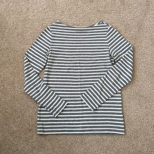 Striped long sleeved heavy weight tee