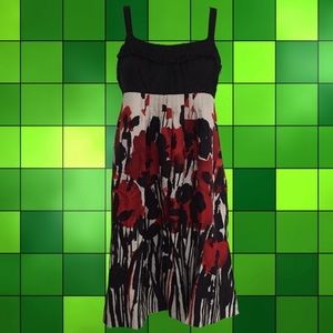 Dresses & Skirts - black, white & red 100% silk strappy dress