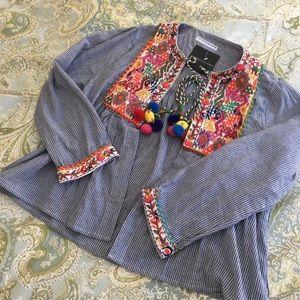 goodnight macaroon Jackets & Blazers - NWT GOODNIGHT MACAROON Santorini jacket size M