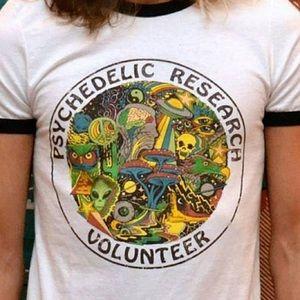 Tops - Psychedelic Research Volunteer Shirt