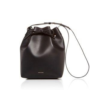 Mansur Gavriel Large Black Leather Bucket Bag