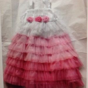 Jona Michelle Other - Jona Michelle tiered pink and white dress size 5