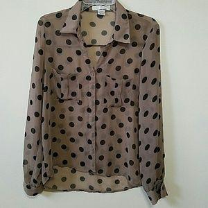 Sans Souci Tops - Polka dots blouse
