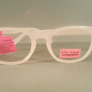 f370078e48b5 Betsey Johnson Accessories - Betsey Johnson pale pink reading glasses +2.00