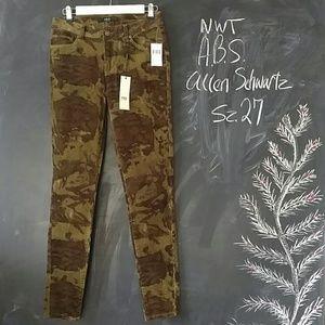 ABS Allen Schwartz Pants - ABS Allen Swartz Camo Corduroy Skinny Pants sz 27