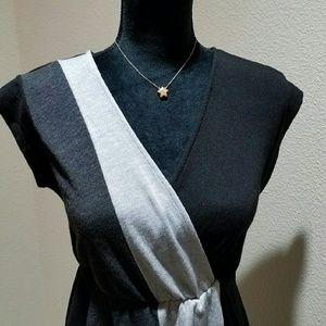 Rhapsody  Dresses & Skirts - Rhapsody hi-lo color block dress