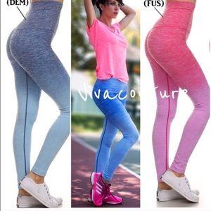 Vivacouture Pants - Ombré denim blue leggings