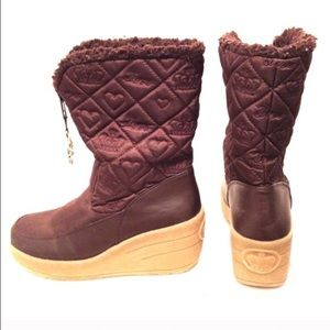 Juicy Couture wedge boots