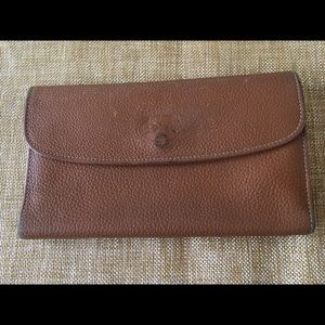 Longchamp Handbags - Longchamp brown leather wallet and checkbook!