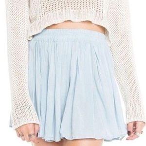Brandy Melville Dresses & Skirts - Light Blue Brandy Melville Luma High Waisted Skirt