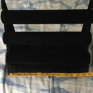 Accessories - Black 3 tier bracelet holder, display rack.