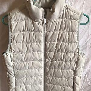 Jcrew White Puffer Vest