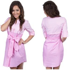 Lauren James Pink Gingham Madeline Dress