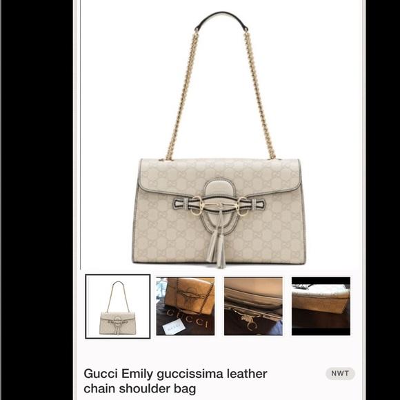 c2cb348a799 Gucci Emily Guccissima Leather Flap handbag