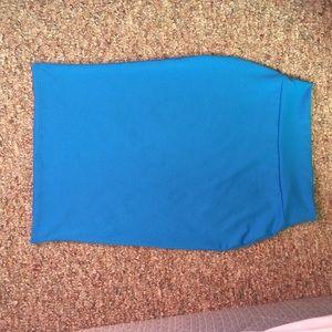 Venus Dresses & Skirts - BOGO NWOT Venus Blue Spandex Pencil Skirt!!!!!XS