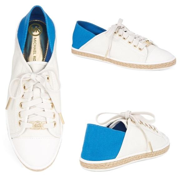 23a6e084ff927 ❤SALE Michael Kors Kristy Lace-up Canvas Sneakers.  M 5876ead2eaf030a7ff0372cd