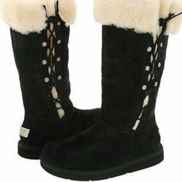 Ugg Upside Side Lace Up Sheepskin Boot