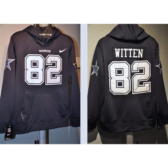 new product 49b1e 6a66b Jason Witten Dallas Cowboys NFL Jersey Hoodie NWT