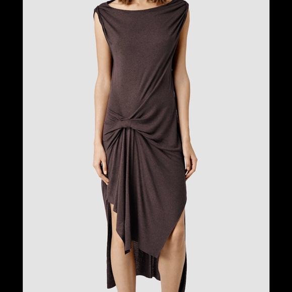 a71d95035 All Saints Riviera Wo aubergine dress size S L