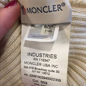 3801b490795 Moncler Accessories - Authentic Moncler Wool Cream Beanie From Barnies