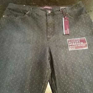 Gloria Vanderbilt Denim - Gloria Vanderbilt Amanda polka dot jeans