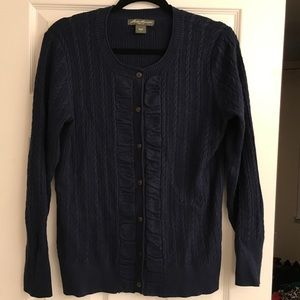 Eddie Bauer cable cardigan sweater