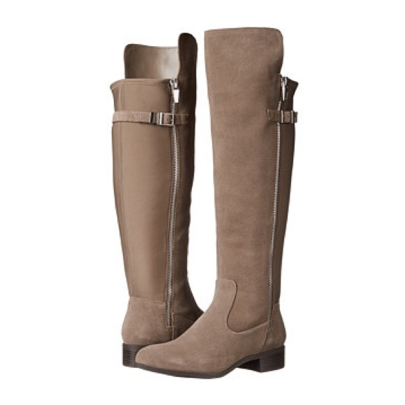 80f25c633f5 Calvin Klein Shoes - Calvin Klein Gigi Wide Calf Over Knee Suede Boots
