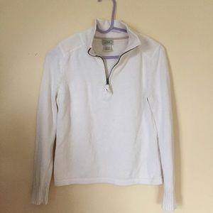 L.L. Bean Sweaters - L.L. Bean Cream Cotton Quarter-Zip