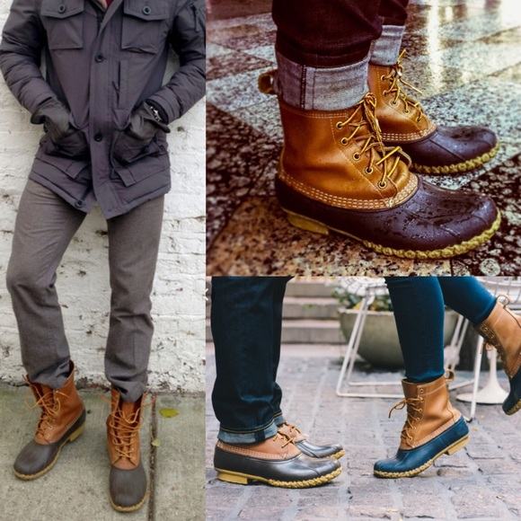 Ll bean boots mens 12 tlc duck boots vtg