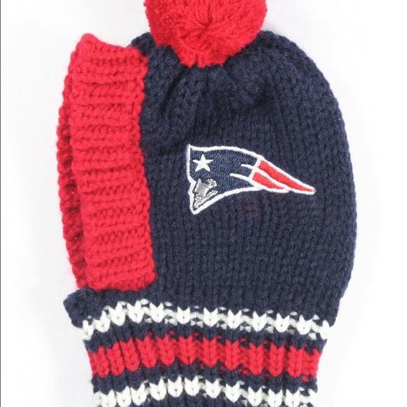 48f8a4c6f3c New England Patriots NFL Dog Knit Hat