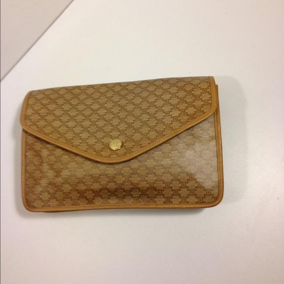 Celine Handbags - Celine Macadam Envelope Clutch Handbag