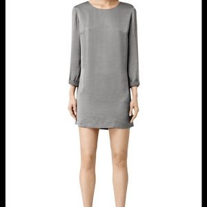 All Saints Hani dress chrome grey US 4