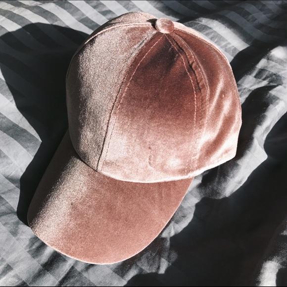 a5044f3f7fc RESTOCKED • dusty rose velvet baseball cap •